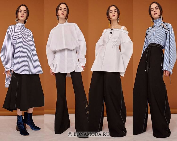 Модные блузки и рубашки осень-зима 2017-2018: Ellery – длинные объёмные оверсайз