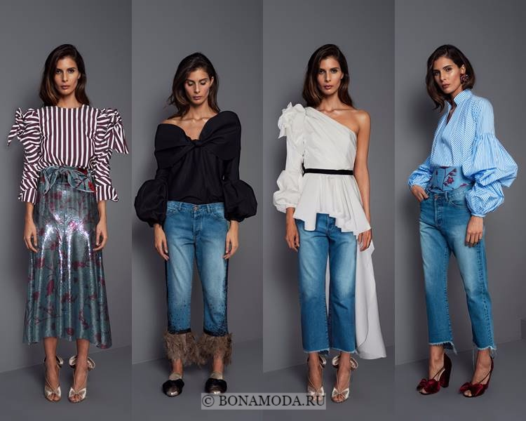 Модные блузки и рубашки осень-зима 2017-2018: Johanna Ortiz – воланы и объёмные рукава