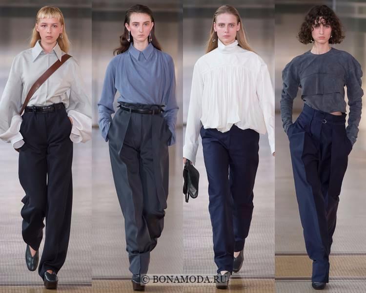 Модные блузки и рубашки осень-зима 2017-2018: Lemaire – минималистичные с длинными рукавами