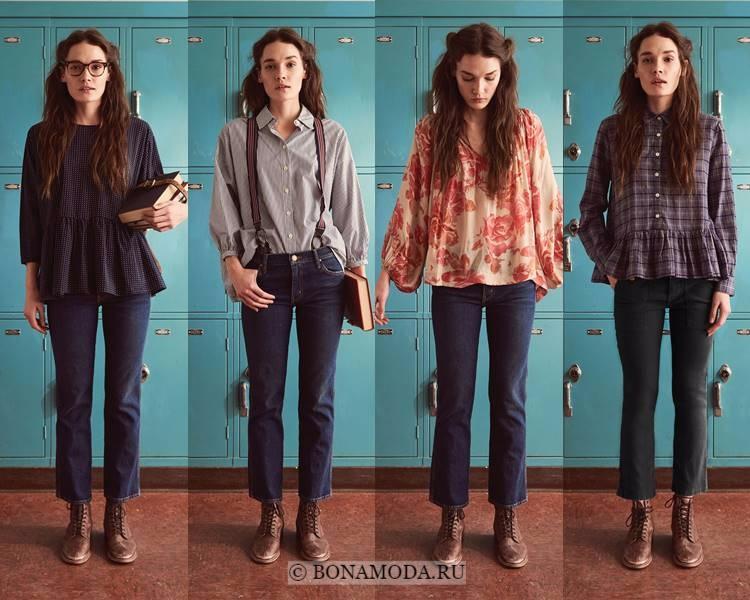 Модные блузки и рубашки осень-зима 2017-2018: The Great – принт, воланы, баска