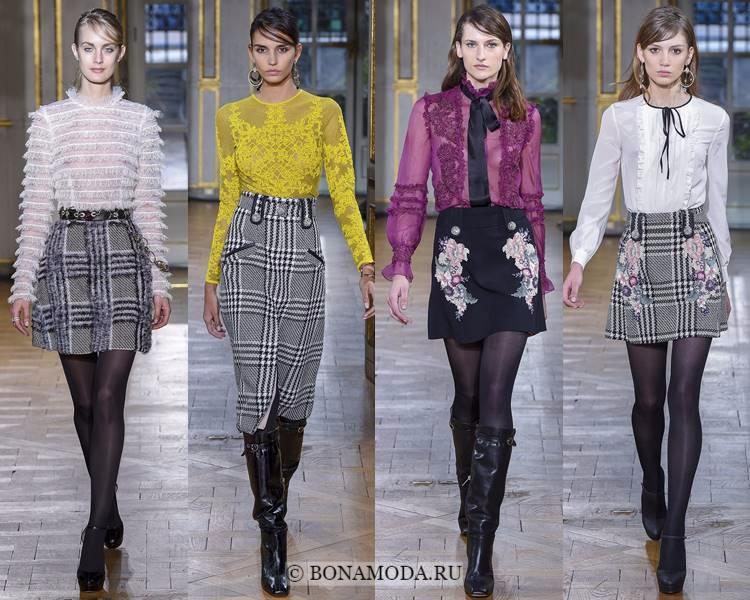 Модные блузки и рубашки осень-зима 2017-2018: Zuhair Murad – прозрачность, рюши, кружева