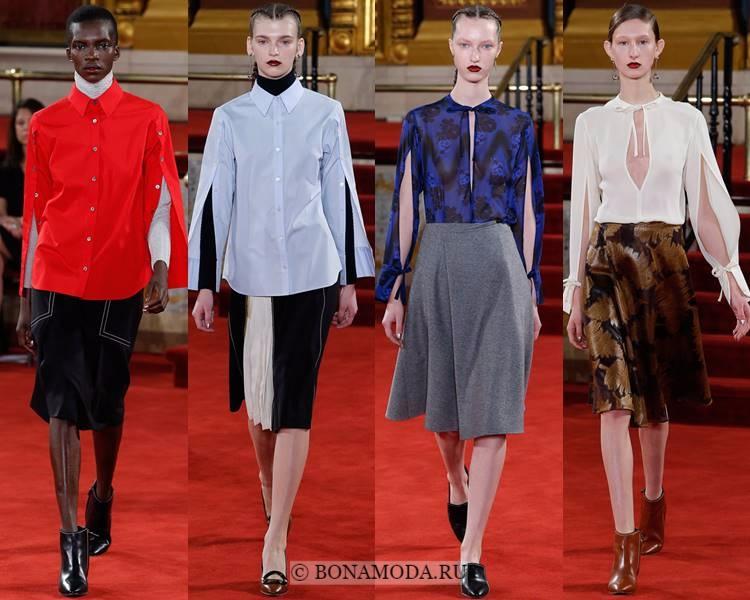 Модные блузки и рубашки осень-зима 2017-2018: Creatures of the Wind – с разрезами на рукавах