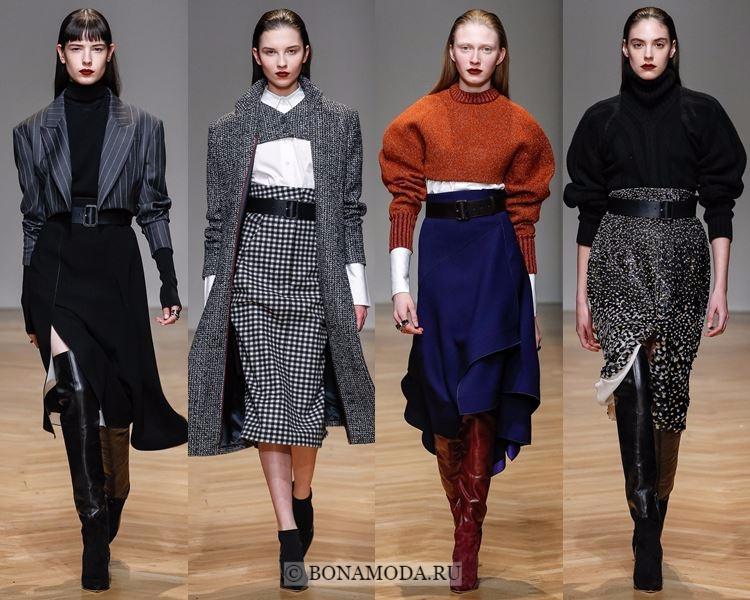 Модные юбки осень-зима 2017-2018: Aquilano.Rimondi – «карандаш» и асимметрия