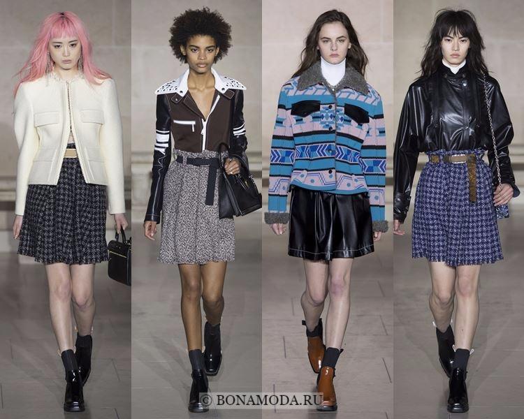 Модные юбки осень-зима 2017-2018: Louis Vuitton – короткие плиссированные