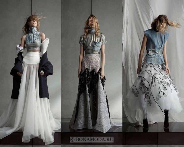 Модные юбки осень-зима 2017-2018: Maticevski – воздушный тюль, объёмы и плиссе