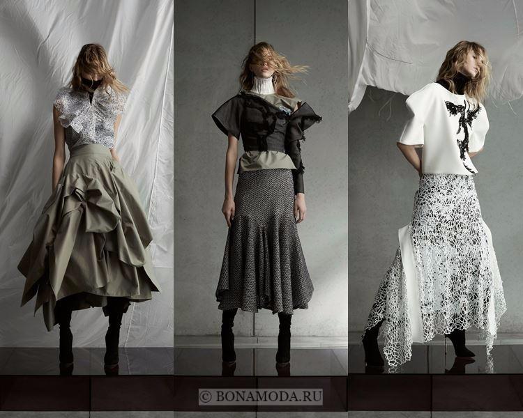 Модные юбки осень-зима 2017-2018: Maticevski – асимметричные пышные авангардные