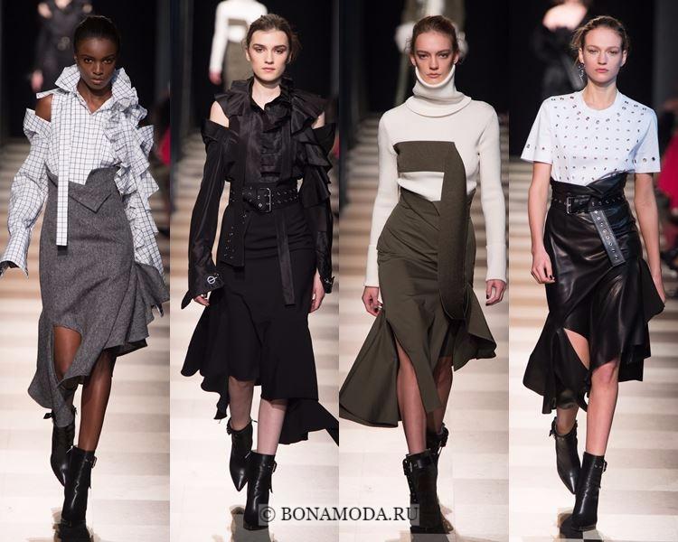 Модные юбки осень-зима 2017-2018: Monse – авангардные асимметричные