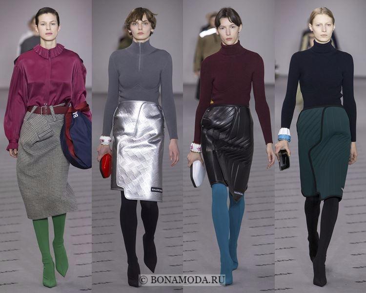 Модные юбки осень-зима 2017-2018: Balenciaga – карандаш до колена