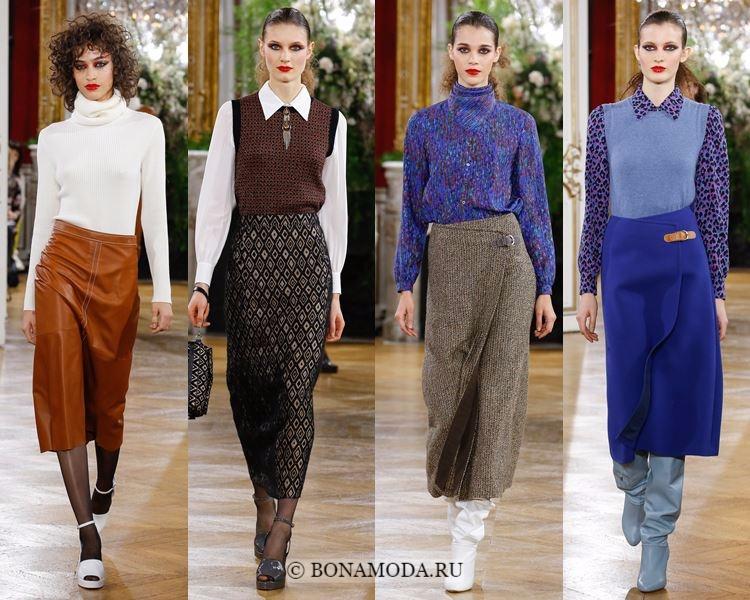Модные юбки осень-зима 2017-2018: Vanessa Seward – элегантные юбки-карандаш ниже колена