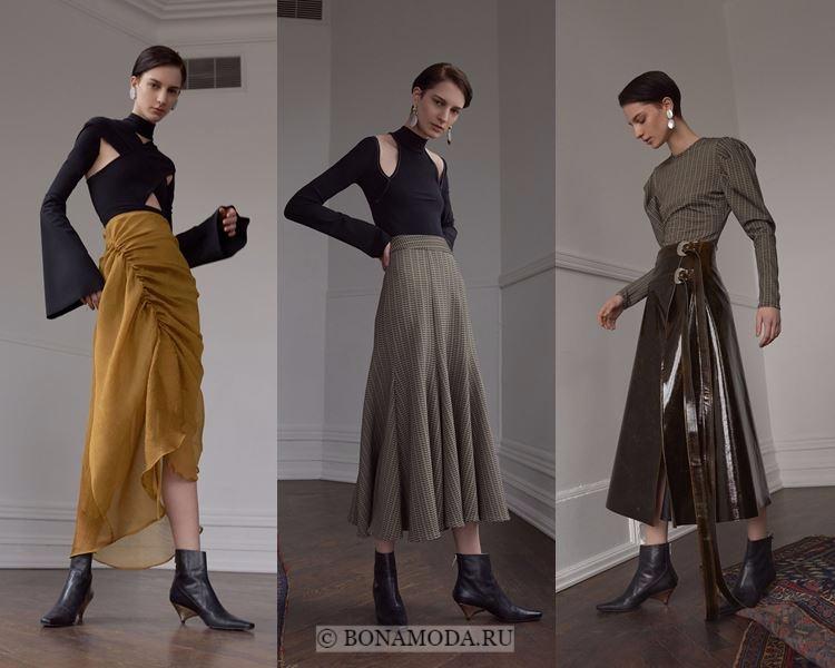 Модные юбки осень-зима 2017-2018: Beaufille – плиссе и драпировка