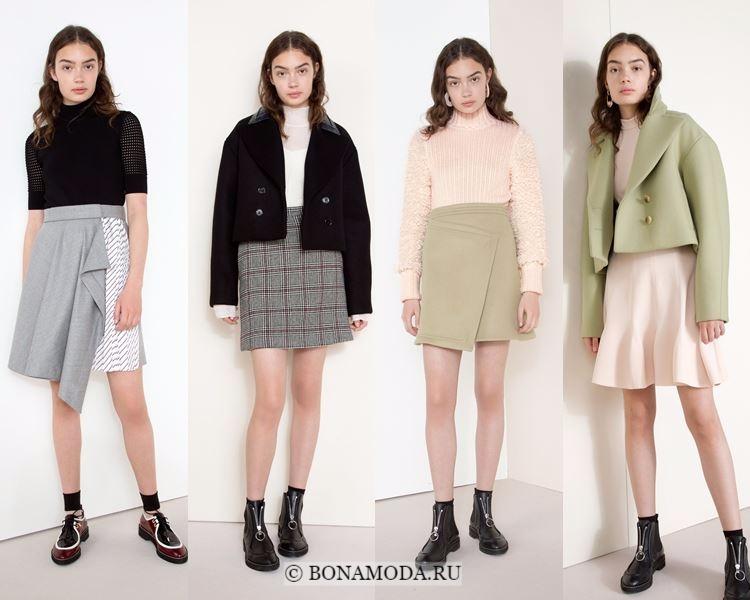Модные юбки осень-зима 2017-2018: Carven – асимметричные мини