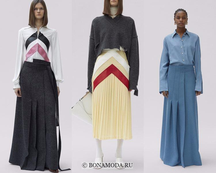 Модные юбки осень-зима 2017-2018: Céline – длинные плиссированные