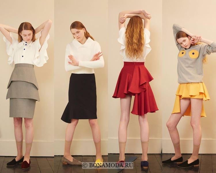 Модные юбки осень-зима 2017-2018: Edeline Lee – асимметричные выше колена