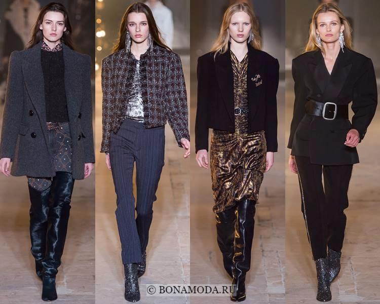 Модные жакеты и пиджаки осень-зима 2017-2018: Isabel Marant – широкие плечи