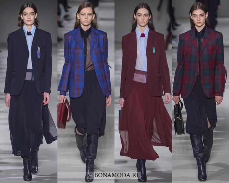 Модные жакеты и пиджаки осень-зима 2017-2018: Victoria Beckham – длинные в мужском стиле