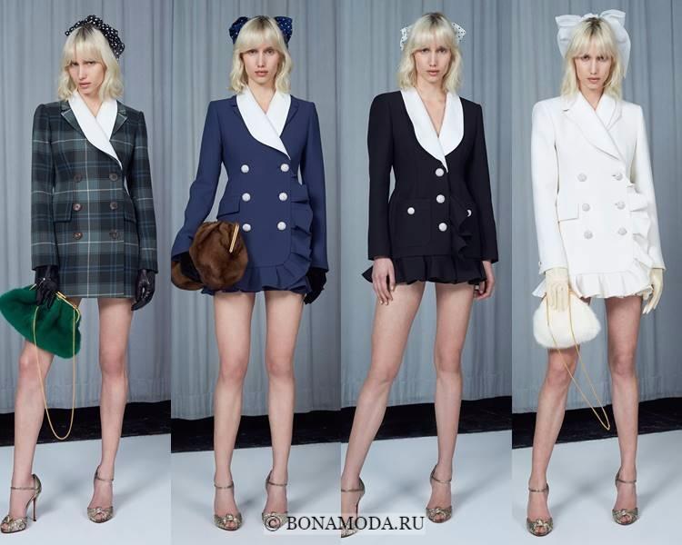 Модные жакеты и пиджаки осень-зима 2017-2018: Alessandra Rich – длинные двубортные