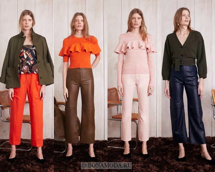 Модные женские брюки осень-зима 2017-2018: Apiece Apart – укороченные, спортивные, кожаные
