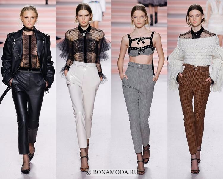 Модные женские брюки осень-зима 2017-2018: Philisophy di Lorenzo Serafini – укороченные «дудочки»