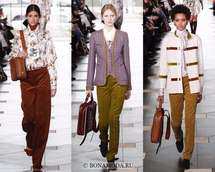 Модные женские брюки осень-зима 2017-2018: Tory Burch – осенние вельветовые