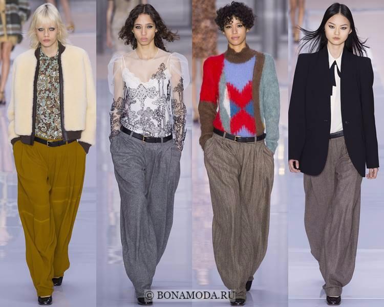 Модные женские брюки осень-зима 2017-2018: Chloé – широкие мешковатые палаццо