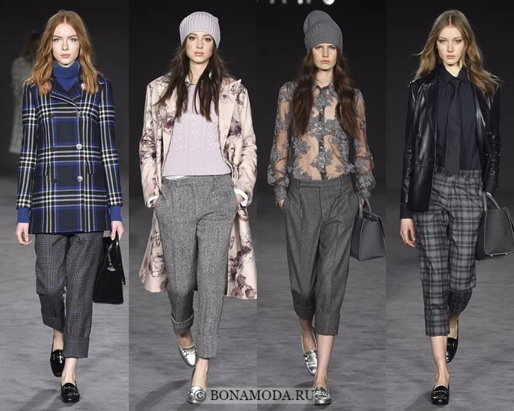 Модные женские брюки осень-зима 2017-2018: Daks – серые, деловые, укороченные