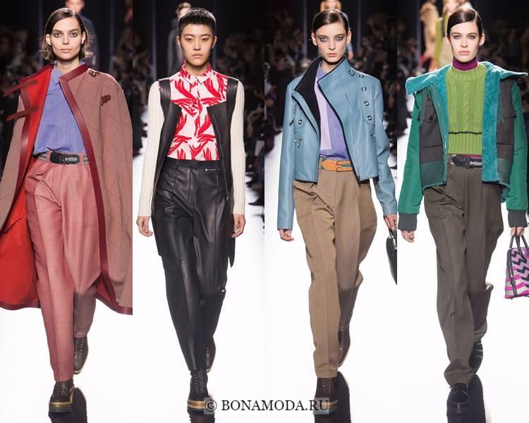 Модные женские брюки осень-зима 2017-2018: Hermès – молодёжные брюки со стрелками