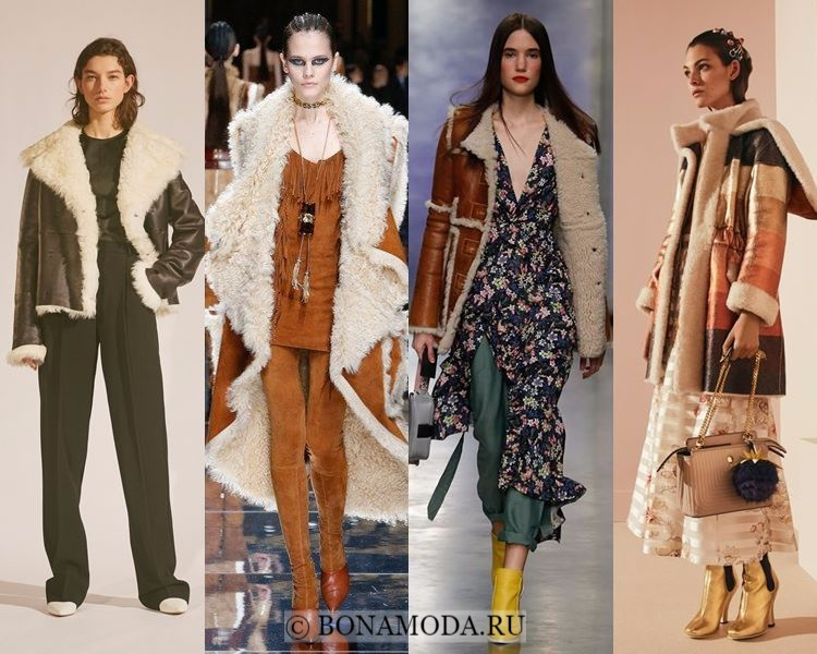 Модные женские дублёнки осень-зима 2017-2018: