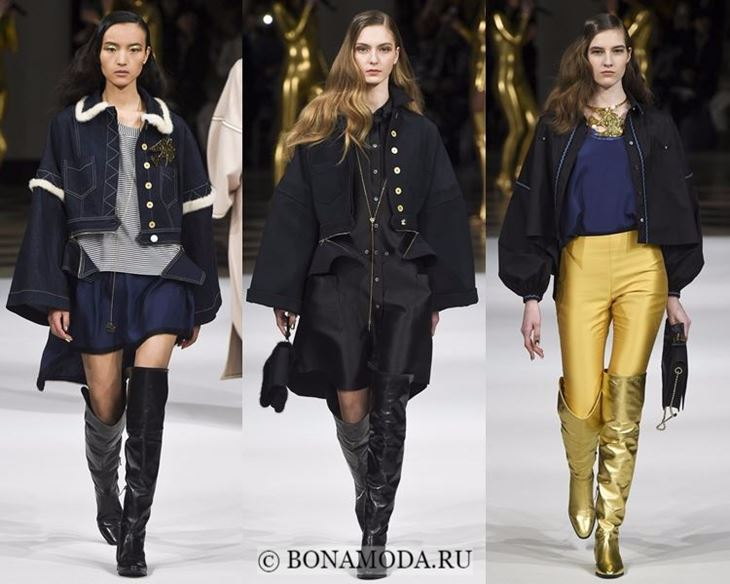 Модные женские куртки осень-зима 2017-2018: свободные короткие Alexis Mabille