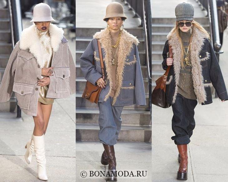 Модные женские куртки осень-зима 2017-2018: удлиненные зимние с мехом Marc Jacobs
