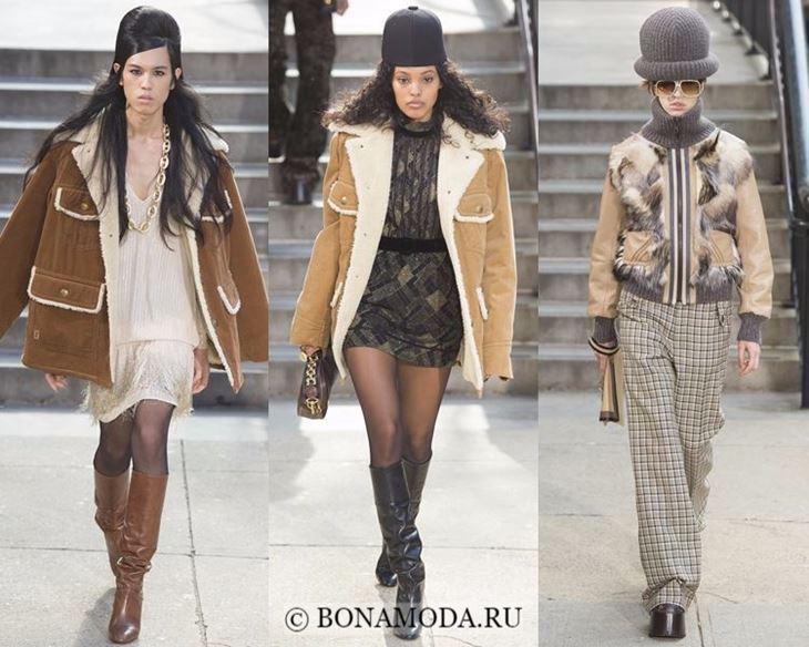 Модные женские куртки осень-зима 2017-2018: бежевые дубленки и бомберы Marc Jacobs