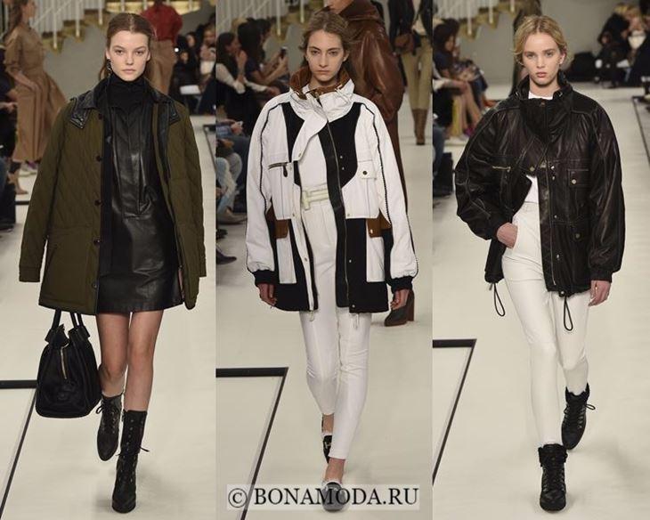 Модные женские куртки осень-зима 2017-2018: мешковатые кожаные длинные Tod's