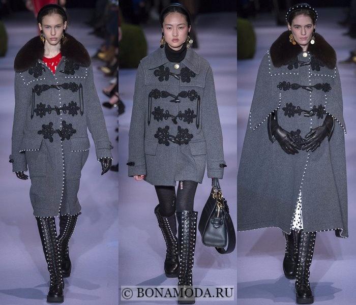 Модные женские пальто осень-зима 2017-2018: серые даффлкот Altuzarra