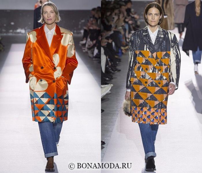 Модные женские пальто осень-зима 2017-2018: двубортные одеяла Dries van Noten
