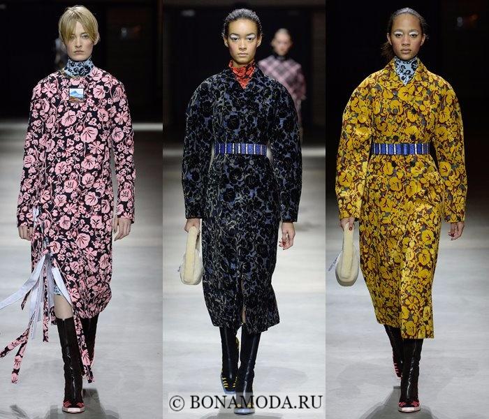 Модные женские пальто осень-зима 2017-2018: цветочные Kenzo