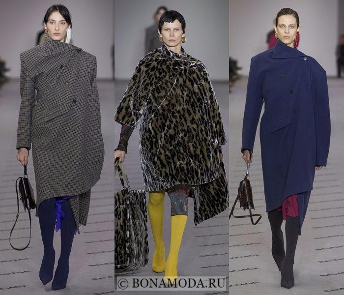 Модные женские пальто осень-зима 2017-2018: серое, леопардовое и синее Balenciaga