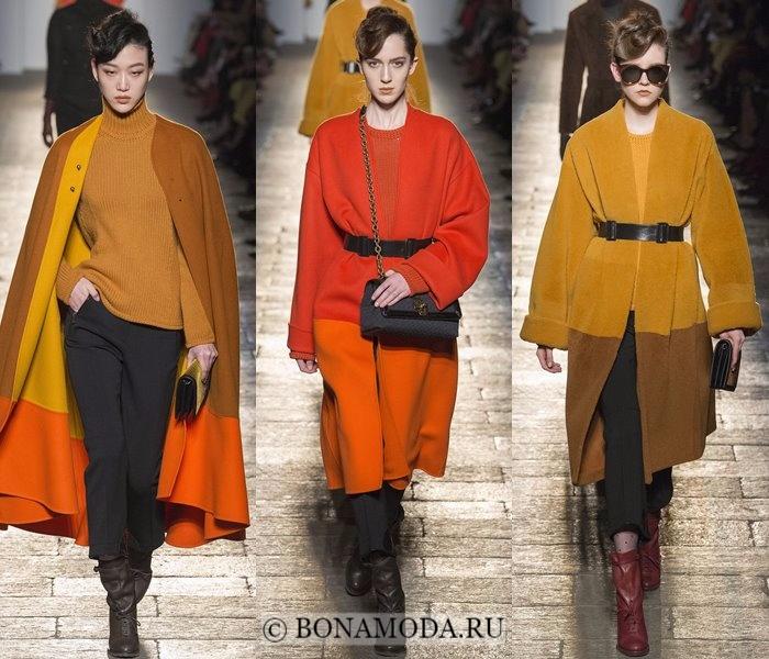 Модные женские пальто осень-зима 2017-2018: горчичные и оранжевые Bottega Veneta