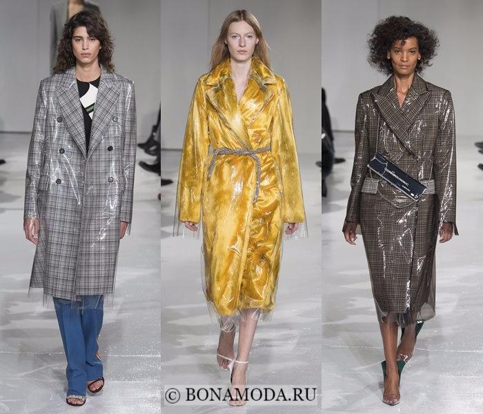 Модные женские пальто осень-зима 2017-2018: пластиковые Calvin Klein