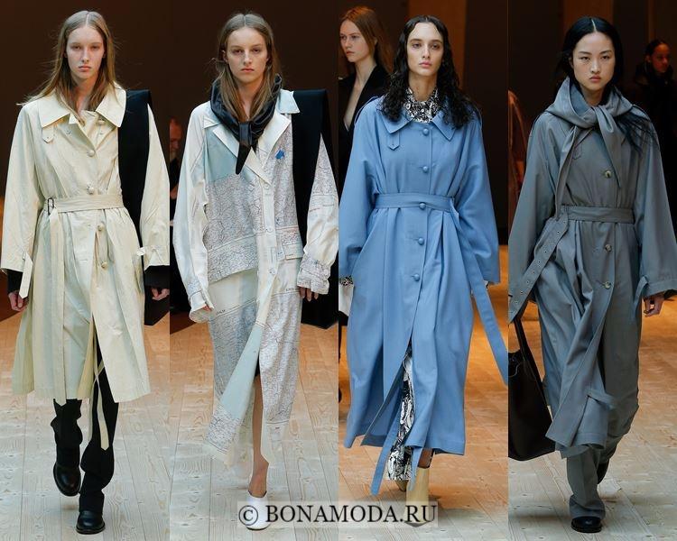 Модные женские плащи осень-зима 2017-2018: Celine легкие осенние