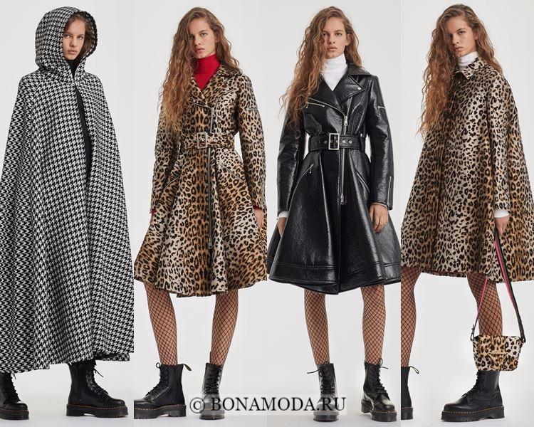 Модные женские плащи осень-зима 2017-2018: Sarah Battaglia кейпы, леопардовые, приталенные