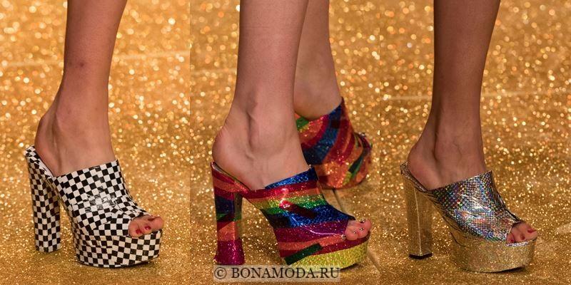 Модные женские туфли осень-зима 2017-2018: мюли на высоком каблуке