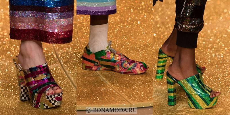 Модные женские туфли осень-зима 2017-2018: блестящие голографические
