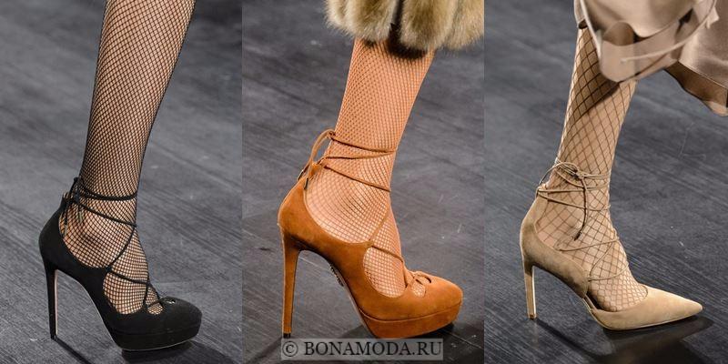 Модные женские туфли осень-зима 2017-2018: замшевые лодочки на шпильке