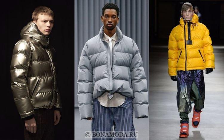 Мужская мода осень-зима 2017-2018: короткие объёмные пуховики