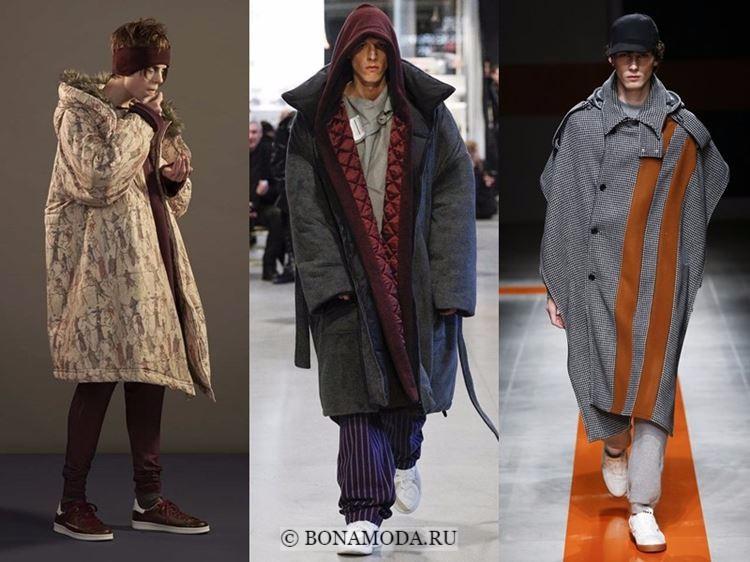 Мужская мода осень-зима 2017-2018: пальто оверсайз