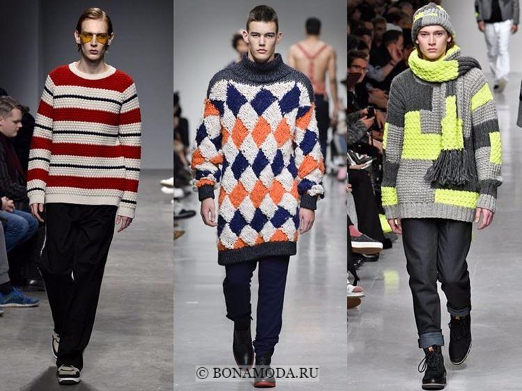 Мужская мода осень-зима 2017-2018: вязаные свитера с узорами