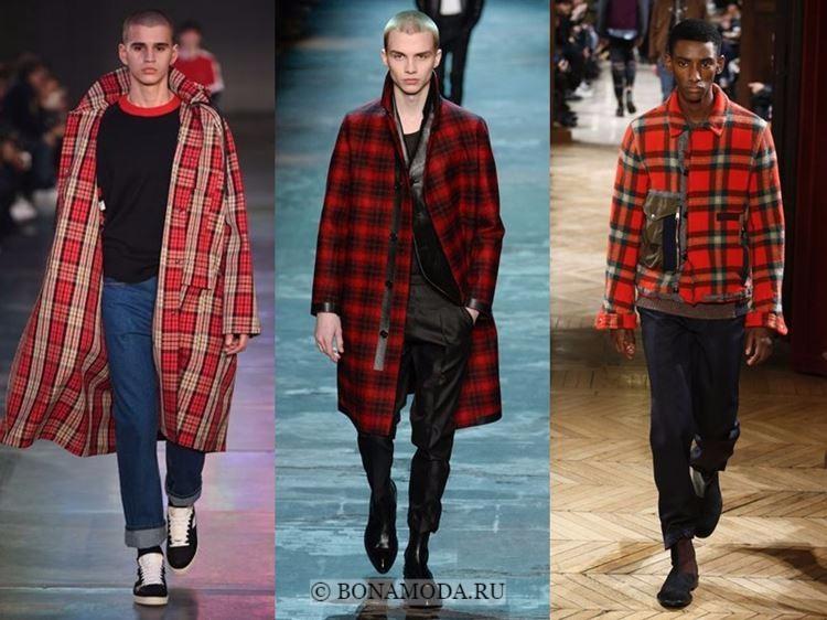 Мужская мода осень-зима 2017-2018: принт красная клетка