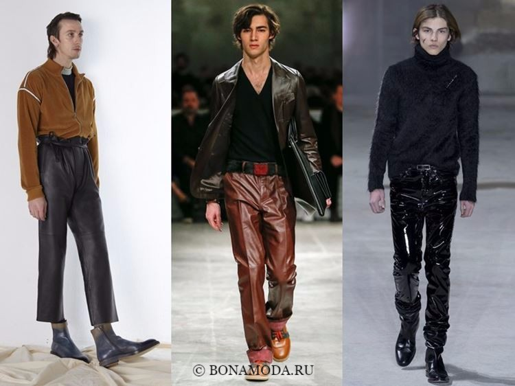 Мужская мода осень-зима 2017-2018: кожаные брюки