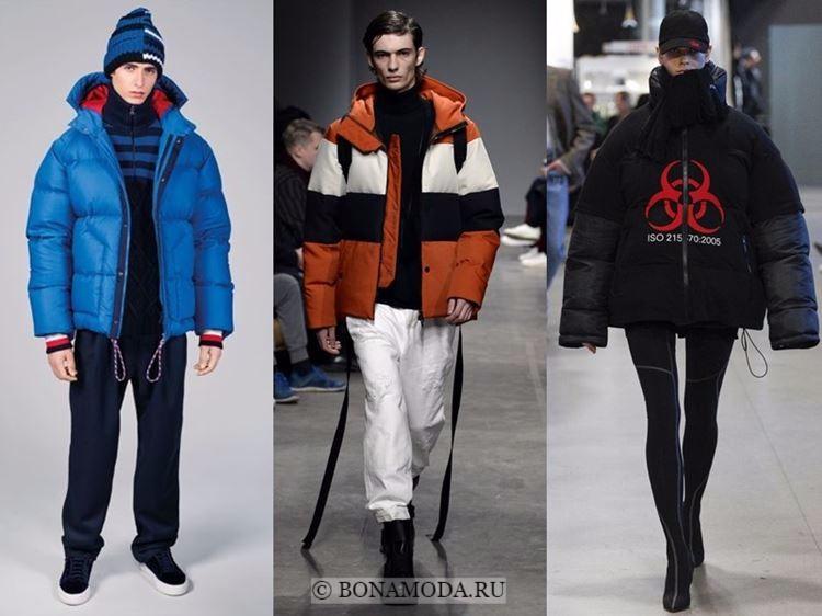 Мужская мода осень-зима 2017-2018: удобные пуховики с капюшонами