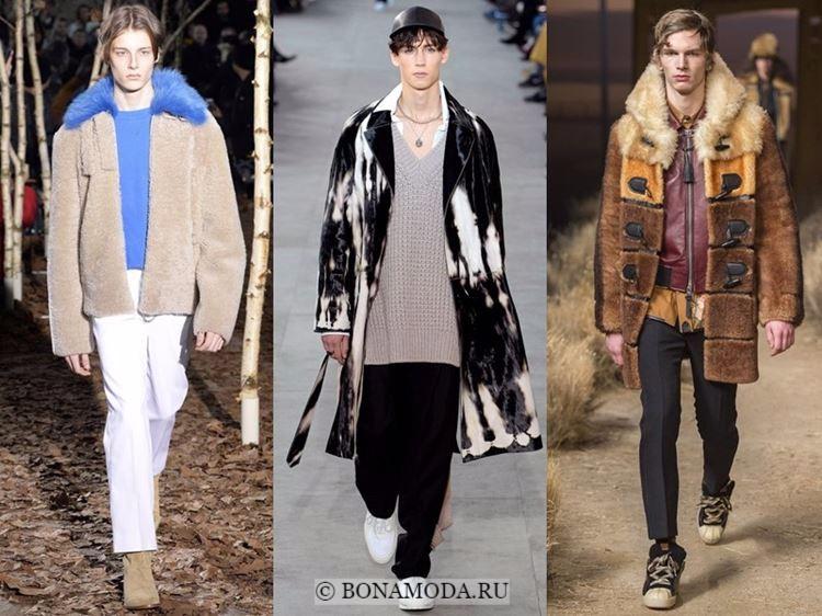 Мужская мода осень-зима 2017-2018: меховая куртка, натуральная шуба и пальто даффлкот с мехом