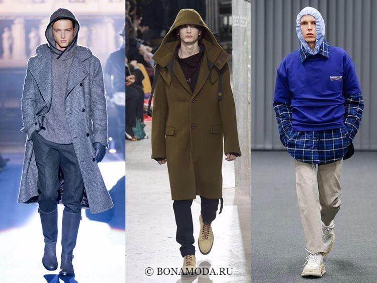 Мужская мода осень-зима 2017-2018: одежда с капюшонами